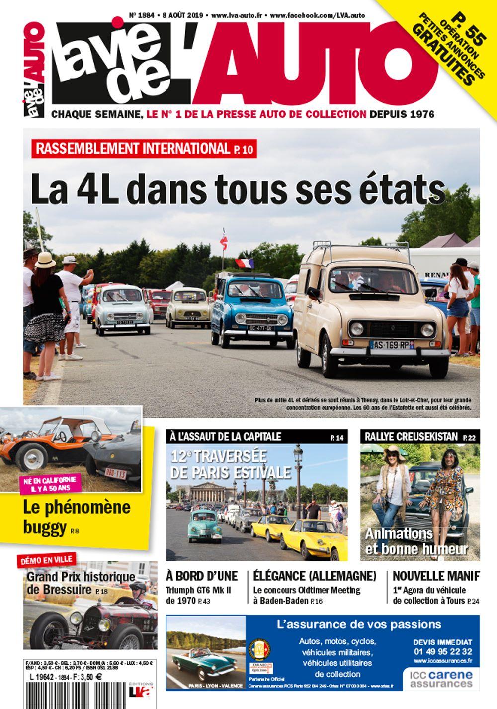 Couverture La Vie de L'Auto n°1884