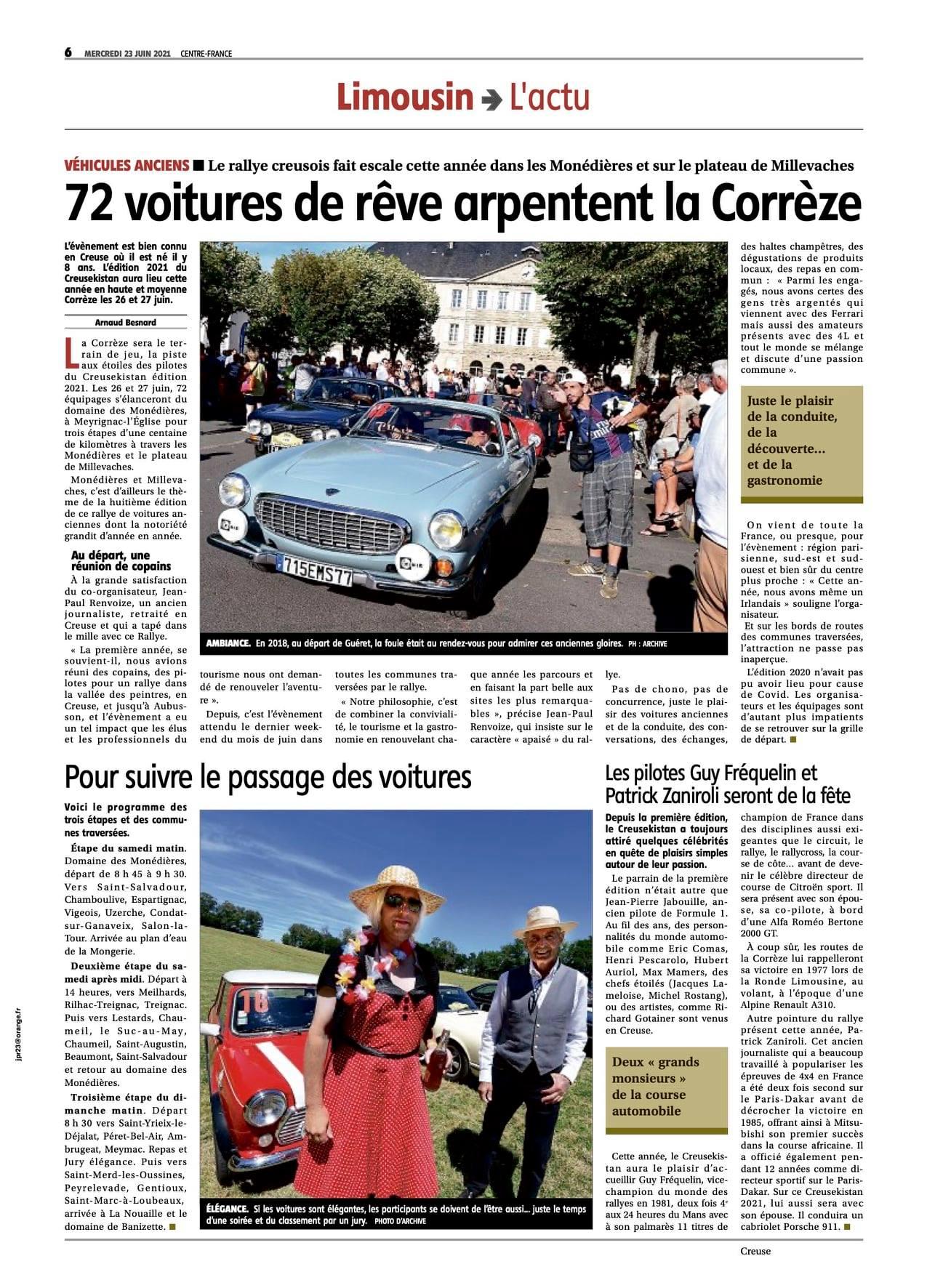 La Montagne édition du mercredi 23 juin, l'actu du Limousin